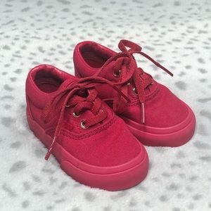 Vans Classic Skater Shoe Canvas Sneaker Red Gold